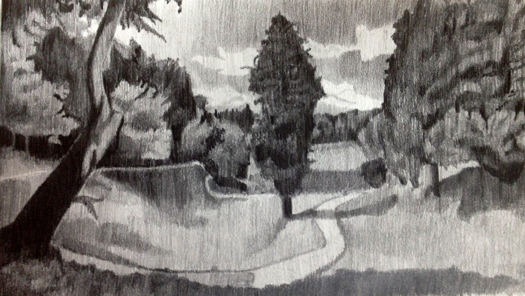 deGranero cursos de dibujo y pintura en madrid paisaje grafito