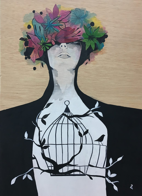 deGranero clases pintura Madrid mujer acrílico,
