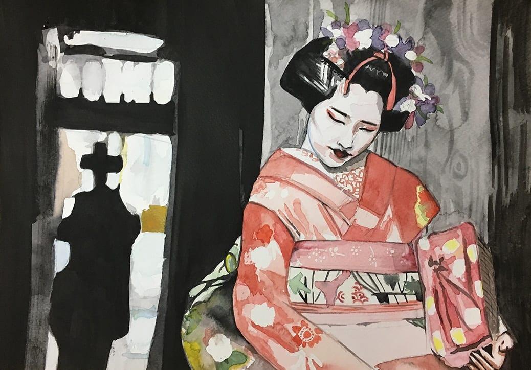 deGranero Japón tinta china acuarela