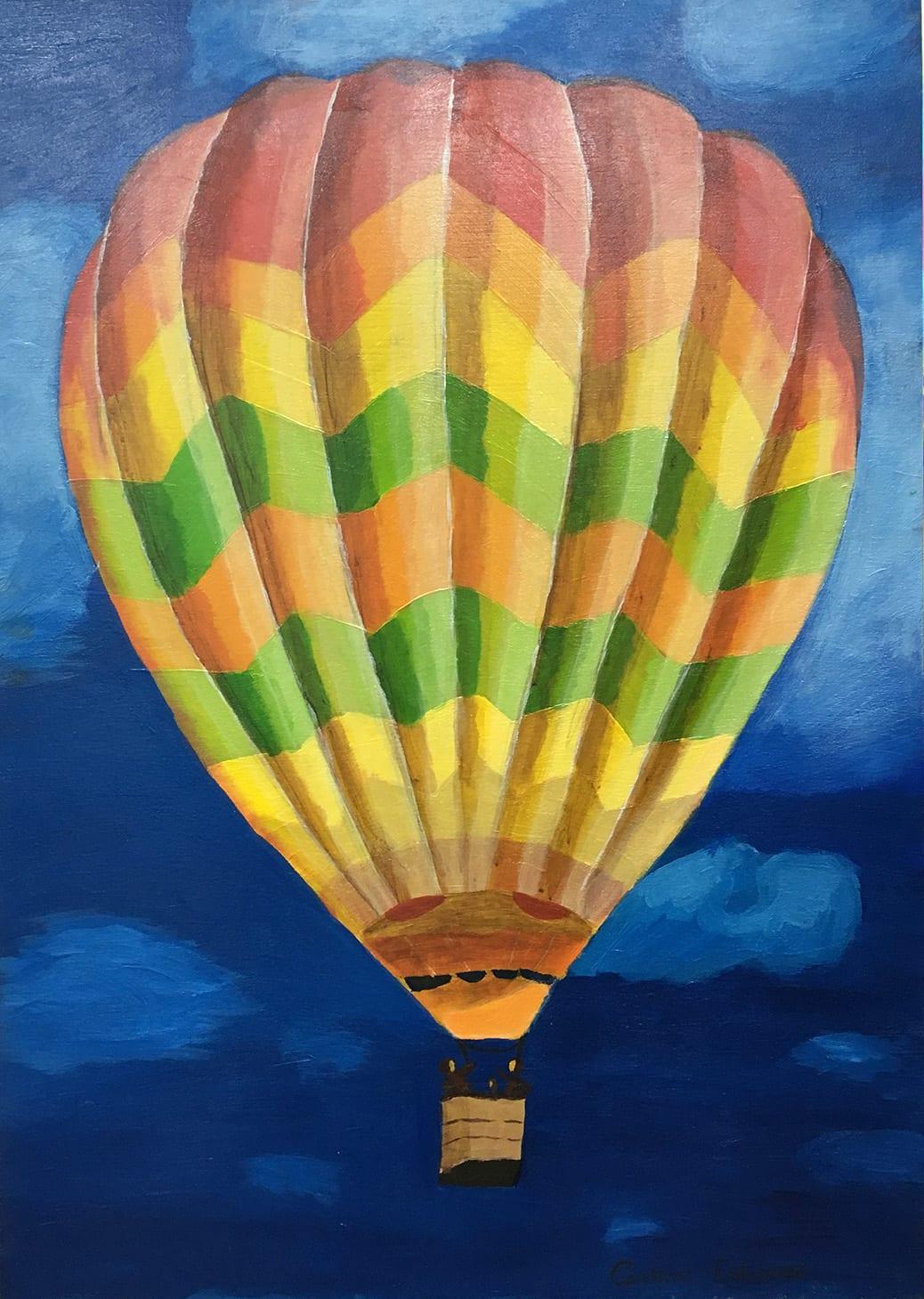 deGranero cursos pintura Madrid globo amarillo