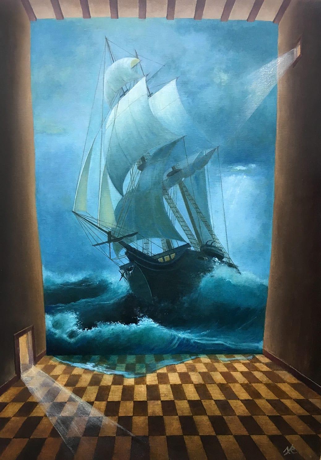 deGranero clases pintura Madrid barco óleo