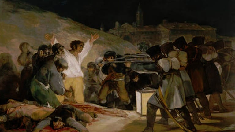 deGranero cursos de dibujo y pintura en Madrid. Los fusilamientos de la Moncloa.