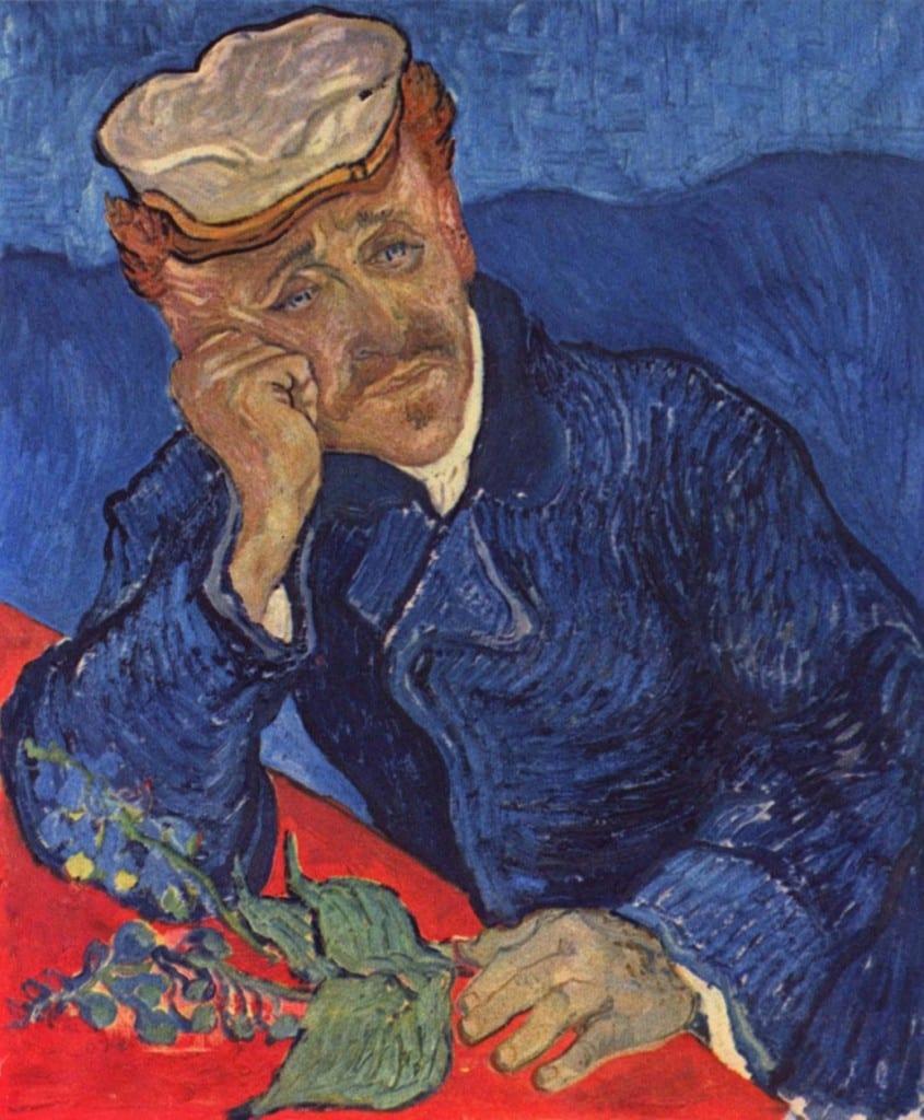 """""""Retrto del Doctor Gachet"""" Auvers-sur.Oise, principios de junio de 1890. Tela, 68 x 57 cm. París Musée de Orsay."""