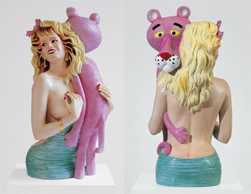 Pink Panther, 1988, porcelana, 104,1 x 52,1 x 48,3 cm.