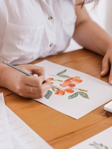 deGranero dibujar árboles y vegetación