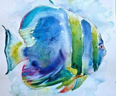 deGranero pintar animales con acuarela