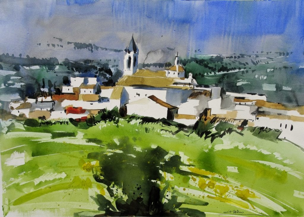 deGranero pintar paisajes con acuarela